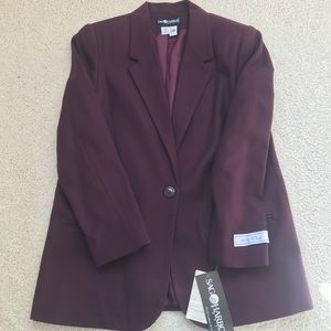 Cranberry-colored Wool Blazer